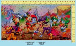 "Japan - Japanese Commemorative Passport. Passeport Commémoratif Du Japon.  ""TOKYO DISNEYLAND, 15 Ans  -  15 Years"". - Disney"