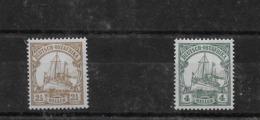 Sellos De Ostafrika Nº Michel 22 Y 23 * Valor Catálogo 27.00€ - Kolonie: Duits Oost-Afrika
