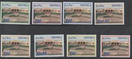 ERITREA,  MNH, DEFINITIVES, BUILDINGS, 8v, SCARCE - Architecture