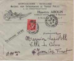 RARE LETTRE QUINCAILLERIE HIPPOLYTE ABOLIN BOULEVARD DES ITALIENS PARIS DE 1927 - 1921-1960: Modern Period