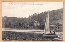 CPA Quimper, La Riviere, Les Vires-Court, Le Saut De La Pucelle, Ungel. - Quimper