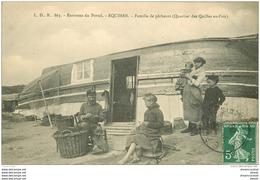 62 EQUIHEN. Famille De Pêcheurs Quartier Des Quilles En L'air. Métiers De La Mer Pêcheurs Et Poissons - Frankreich