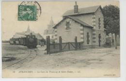 AVRANCHES - La Gare Du Tramway De Saint James (passage Train ) - Avranches