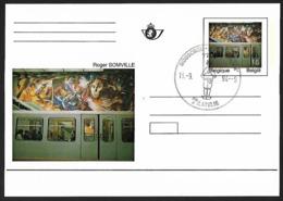 1994 - BELGIË/BELGIQUE/BELGIEN - Card + OBP/COB BK46 [Roger Somville] + MOUSCRON - Stamped Stationery