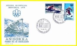 Andorra. 1976. FDC. Juegos Olimpicos. Olympic Games. Montreal - Andorra Spagnola