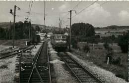 221019 - PHOTO D BREHERET 1955 Chemin De Fer Train Locomotive - GROISY Le 610 Dévale Vers Caux Vue Prise De La 20003 - Frankrijk