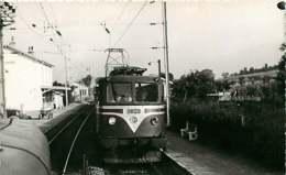 221019 - PHOTO D BREHERET 1955 Chemin De Fer Train Locomotive - 74 Gare De REIGNIER Vue Prise De La 13005 - CC20001 SNCF - Autres Communes