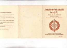 """III. Reich, 6 Propaganda Karten, """" Reichswettkämpfe Der SA. Om Folder  ! - Weltkrieg 1939-45"""