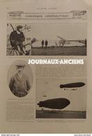 1910 CHRONIQUE AÉRONAUTIQUE - ROOLS MEETING DE BOURNEMOUTH - DANIEL KINET - DIRIGEABLE À LEICHLINGEN - 1900 - 1949