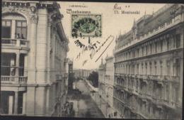CPA Pologne Warszawa Ul Moniuszki Occupation Russe YT Russie 39  CAD 19 6 1905 CP Marcel Drouin Varsovie - Polonia