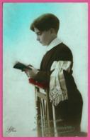 THULIN 1923 - Souvenir De Communion - Chapelet - Bible - Garçon - Photo LEO - 1923 - Andere