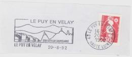 FRANCE. FRAGMENT POSTMARK LE PUY EN VELAY. 1992. BRIDGE. FLAMME - Marcofilia (sobres)