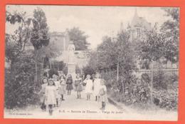 Retraite De  Thouars - Vierge Au Jardin (religion, Scene De Vie , Enfants) - Thouars