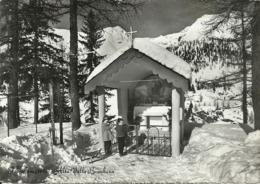 Foppolo (Bergamo) Cappelletta Sotto La Neve E Bambini - Bergamo