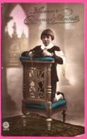 THULIN 1923 - Souvenir Communion Solennelle - Chapelet - Bible - Garçon Ou Fillette - Photo ROTOB BRUX - 1923 - Andere