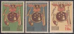 BHUTAN 1962,  Colombo Plan 3 Values, Complete Set,  MNH(**) - Bhutan
