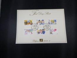 BELG.2003 3150/55 - FDS - Een Hart Voor .../un Coeur Pour ..... - FDC