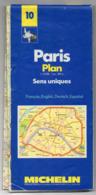 Carte Routière  Michelin N° 10 -- PARIS -  Plan   Sens Uniques  ...............à Saisir - Cartes Routières