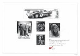 Belgium 2019 Black And White Sheetlet BPost 21-Oct-2019 Le Mans Car Racing WWII Bastogne Princess Elisabeth Christmas - Black-and-white Panes