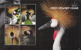 2016 Ghana  Birds Crested Cranes Complete Set Of 2 Sheets MNH - Ghana (1957-...)