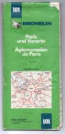 Carte Routière  Michelin N° 101 -- Banlieue De PARIS -   ...............à Saisir - Cartes Routières