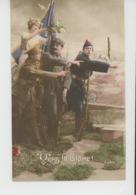 """GUERRE 1914-18 - Jolie Carte Fantaisie Patriotique Soldats Alliés """"VERS LA VICTOIRE """" - Patriotic"""
