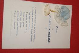 Cpa SAINTE-CATHERINE ( 11 ) -fantaisie ,  Bonnet   Tissu Et Pendentif Elephant,priere De Ste Catherine - Vrouwen