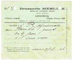 """Brasseries Et Malteries Merlo-Linkebeek Réunies """"MERLINK"""". 1936. Linkebeek - 1900 – 1949"""