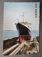 CP 44 Le11 Mai 1960 à SAINT NAZAIRE Lancement Du Paquebot FRANCE French Line Compagnie Générale Transatlantique Slip Way - Saint Nazaire