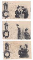 Lot De 5 Cartes LE BAROMETRE DU MENAGE (Bergeret) - Couples
