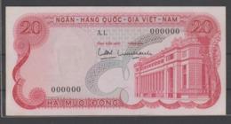 VIETNAM SPECIMEN  BANKNOTE    20 DONG  SERIAL  N° 000000  AU - Vietnam