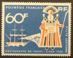 Polynésie Française: Yvert N° PA 23 (Bicentenaire De La Découverte De Tahiti: Cook, 1968) Neuf ** - Autres