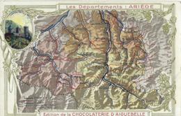 CHROMO CHOCOLAT D'AIGUEBELLE 1900 DEPARTEMENT ARIEGE - Aiguebelle