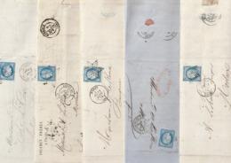 Lot De 89 Cérès Lettres Dépliées De Paris Au Départ De 3 Lieux Dont étoiles Chiffrées Pour Morlaix - Marcofilia (sobres)