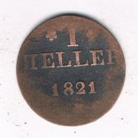1  HELLER 1821 FRANKFURT DUITSLAND /8062/ - [ 1] …-1871 : German States
