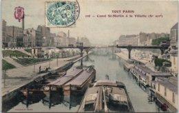 75 PARIS 10ème - Canal Saint Martin à La Villette (couleur) - Distretto: 10