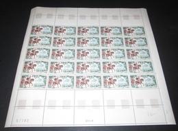 France 1966 Neuf** N°  1495 ) VERCINGETORIX FEUILLE Complète (full Sheet) - Full Sheets