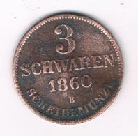 3 SCHWAREN 1860 B OLDENBURG   DUITSLAND /8064/ - [ 1] …-1871 : German States