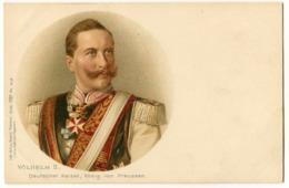 CARTOLINA CASE REALI WILHELM II KING DEUTSCHER KAISER GERMANY - Familias Reales