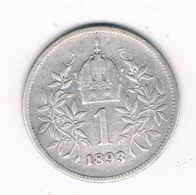 1 KORONA 1893  OOSTENRIJK /8067/ - Austria