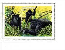 RWANDA-1985-GORILLE-B99 AVEC WWF***MNH-valeur 12 Euro - Gorillas