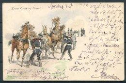 Bayer Soldaten Postkarte Seeger Stuttgart Artillery Postcard. Passau - Erlangen - Briefe U. Dokumente