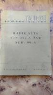 MANUEL TM11-281 / RADIO SETS SCR-399-A AND SCR-499-A / ÉDITION MARS 1945 - Libri, Riviste & Cataloghi