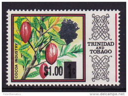 TRINIDAD  AND TOBAGO,MNH, PLANTS ,TREES, COCOA,OVERPRINT, 1v - Plants