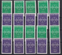 Europa Cept 1959 France 2v (10x) ** Mnh (44934) - 1959