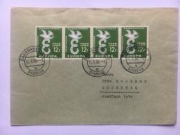 SAAR 1958 Europa FDC Sent Saarbrucken To Duisburg - Lettres & Documents