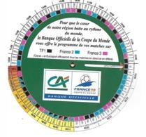 Calendrier France 98 - Crédit Agricole - Habillement, Souvenirs & Autres