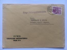 GERMANY Berlin 1954 Cover To Schwäbisch Hall - `Ellige Zeitungsdrucksache` Cachet - [5] Berlin