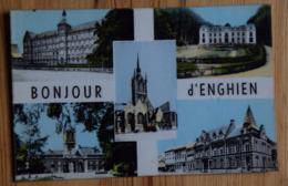 Enghien - Bonjour D'Enghien - Multivue / Multi Vues - Colorisée - CPSM Format CPA - (n°13313) - Enghien - Edingen