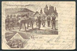 1905 Soldaten Military Gymnastics Comic Gruss Aus Postcard. - Briefe U. Dokumente